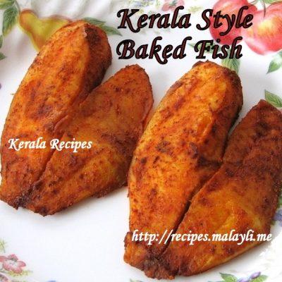 Kerala Style Baked Fish