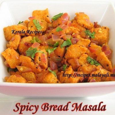 Spicy Bread Masala Stir Fry