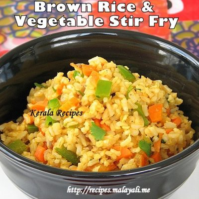 Brown Rice & Vegetable Stir Fry