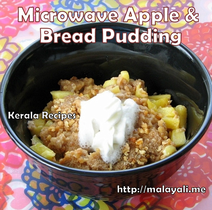 Microwave Apple Bread Pudding