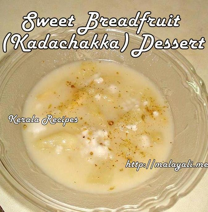 Sweet Breadfruit Dessert