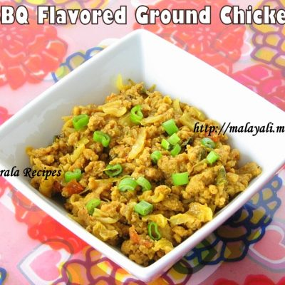 BBQ Flavored Ground Chicken