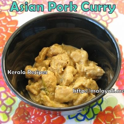 Asian Style Pork Curry