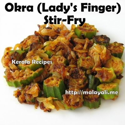 Okra/Lady's Finger Stir Fry