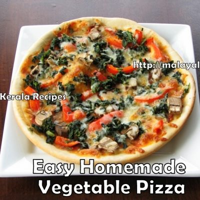 Homemade Vegetable Pizza