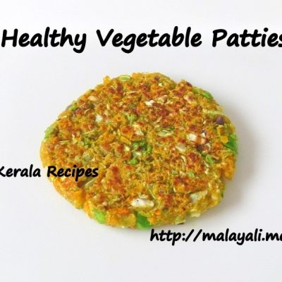 Cabbage Carrot & Green Peas Patties