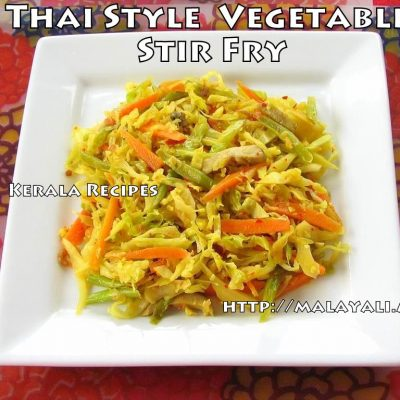 Thai Style Vegetable Stir Fry