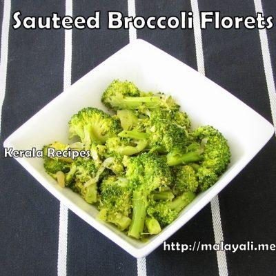 Sauteed Broccoli Florets (Broccoli Mezhkkupuratti)