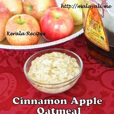 Cinnamon Apple Oatmeal
