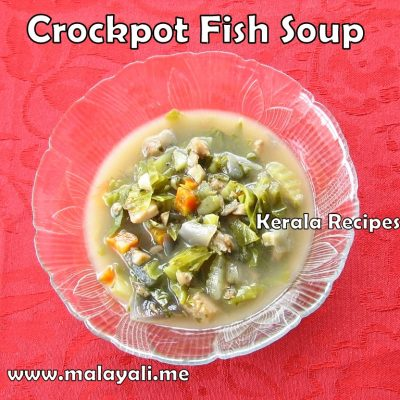 Crockpot/Slow Cooker Fish Soup