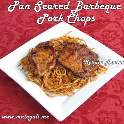 Pan Seared Barbeque Pork Chops