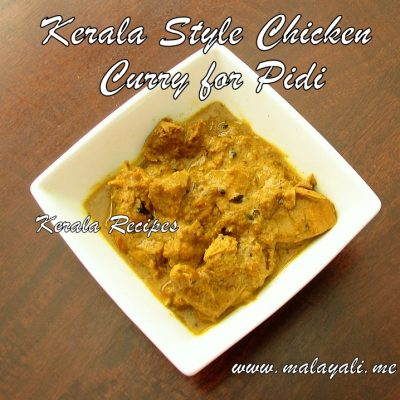 Kerala Style Chicken Curry for Pidi