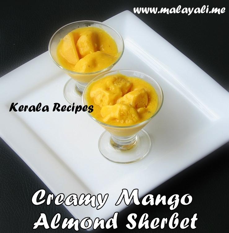 Creamy Mango Almond Sherbet