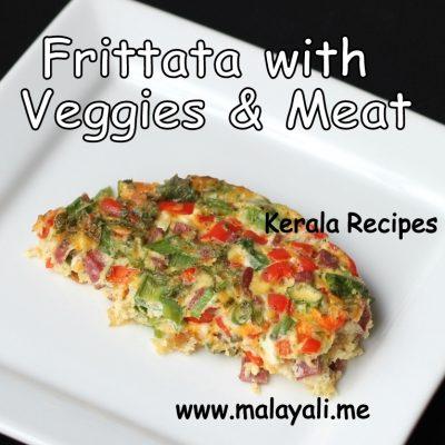 Frittata with Veggies and Salami