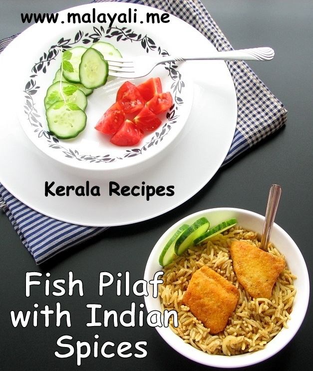 Indian Fish Pulav/Pilaf