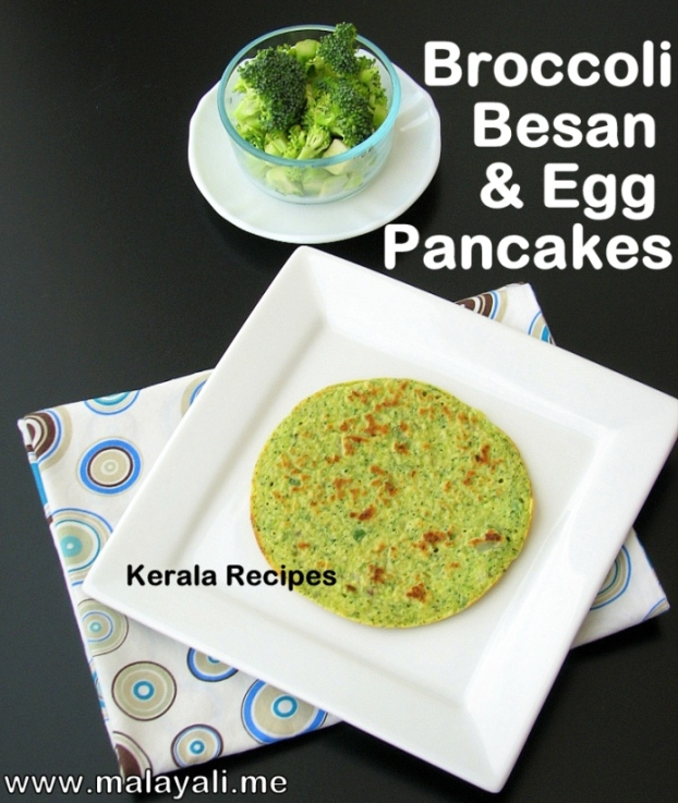 Besan Broccoli Pancakes