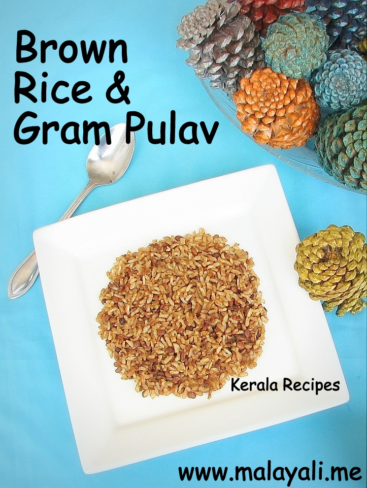 Brown Rice Gram Pulav