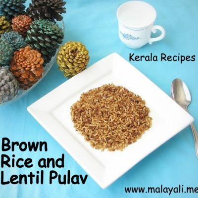 Brown Rice and Lentil Pulav