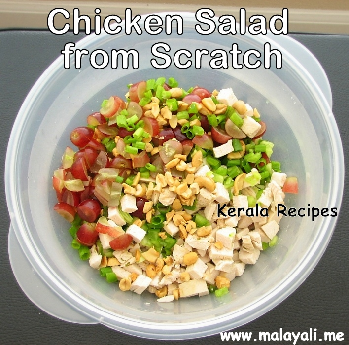 Chicken Salad Made from Scratch