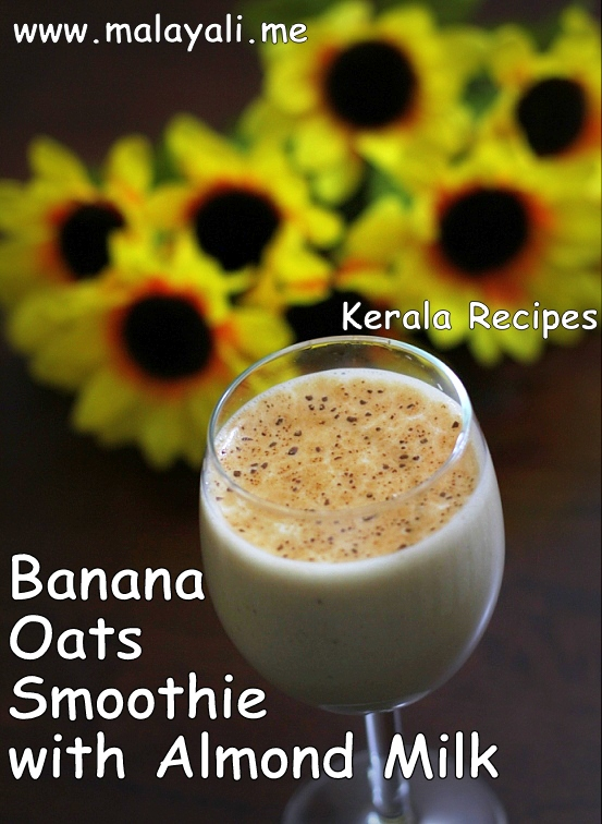Banana Oats Smoothie with Almond Milk