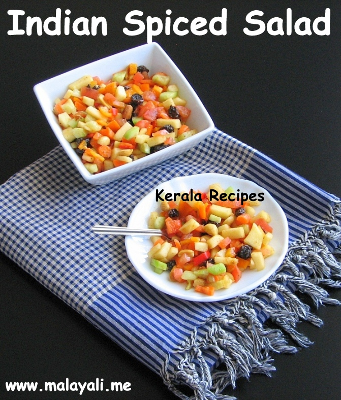 Fruit And Vegetable Salad With Indian Spices Kerala Recipes