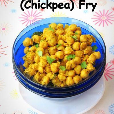 Simple Chana/Chola Fry (Stir Fried Garbanzo Beans)