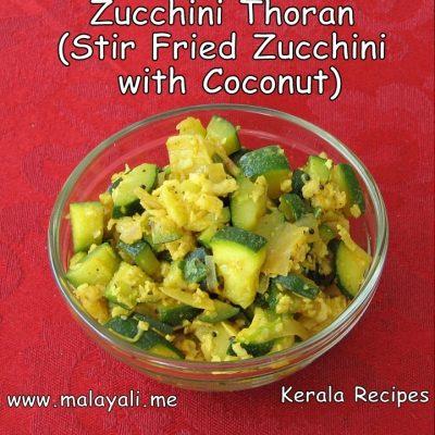Zucchini Thoran