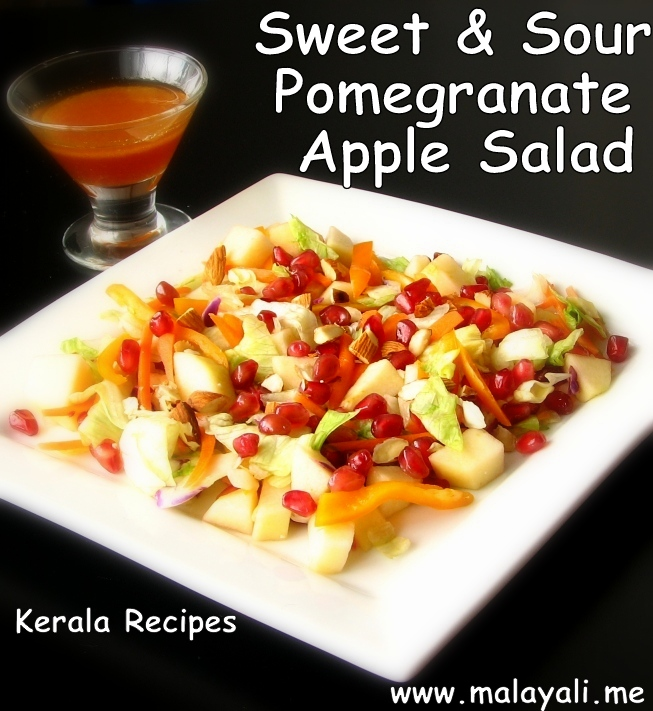 Sweet & Sour Pomegranate Apple Almond Salad