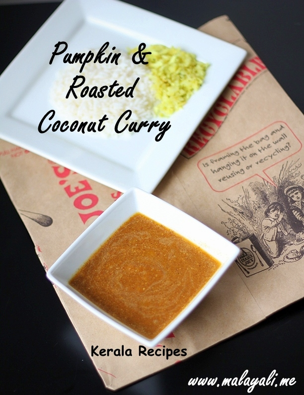 Pumpkin & Roasted Coconut Curry