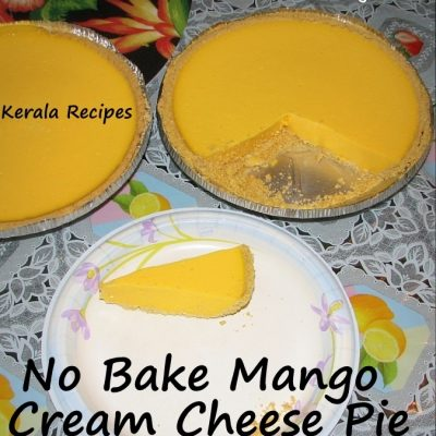 No Bake Mango Cream Cheese Pie