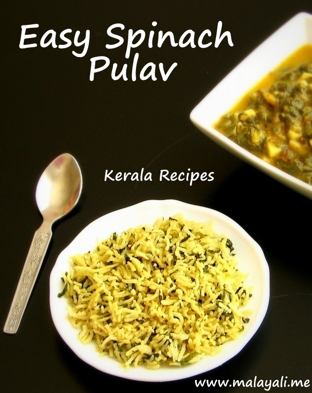 Easy Spinach Pulav