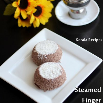 Ragi Puttu (Steamed Finger Millet Cakes)