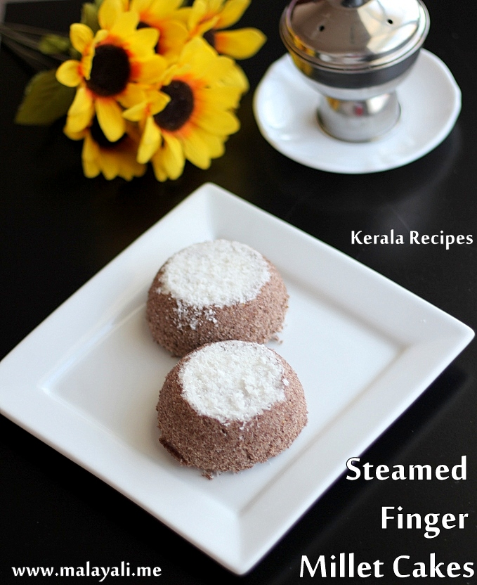 Steamed Finger Millet Cakes