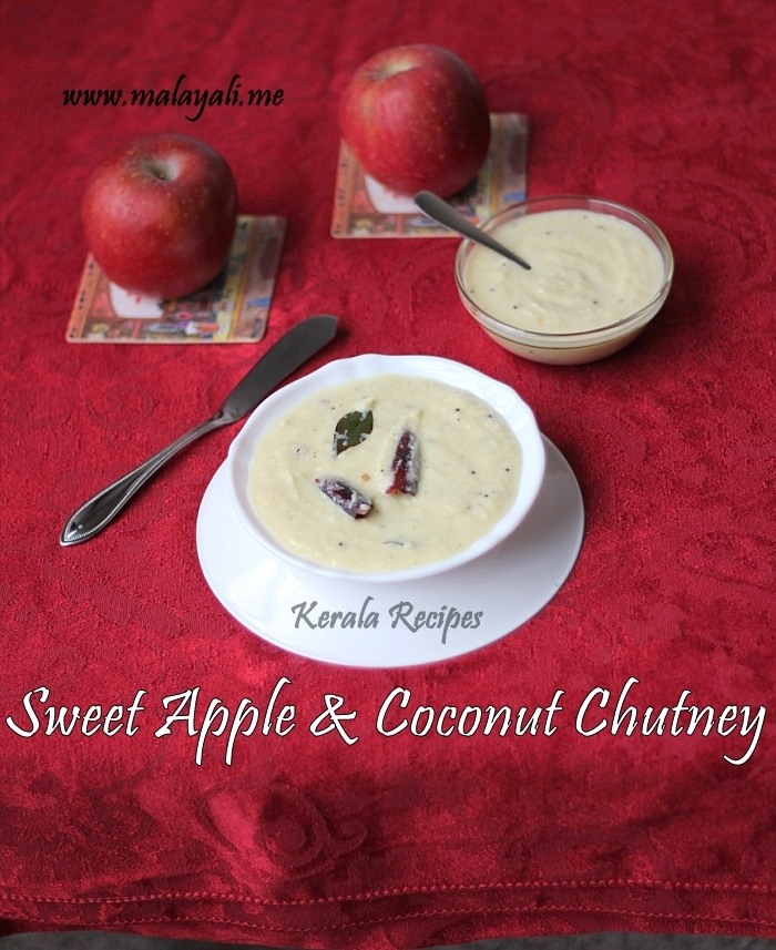 Sweet Apple and Coconut Chutney
