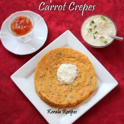 Besan Carrot Dosa (Chickpea Flour Crepes)