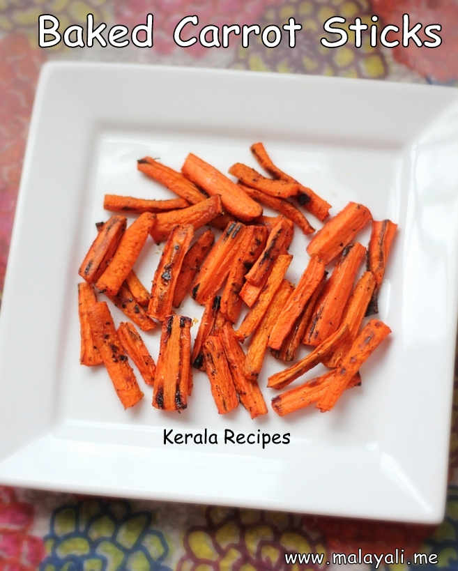 Healthy Oven Baked Carrots