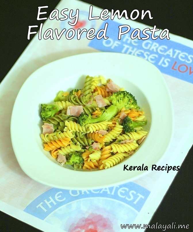 Easy Lemon Flavored Pasta