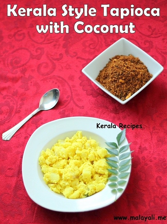 Kerala Style Tapioca with Coconut