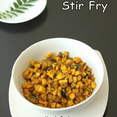 Raw Plantain Stir Fry (Vazhakka Mezhukupuratti)