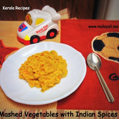 Baby Food: Mixed Vegetables with Indian Spices