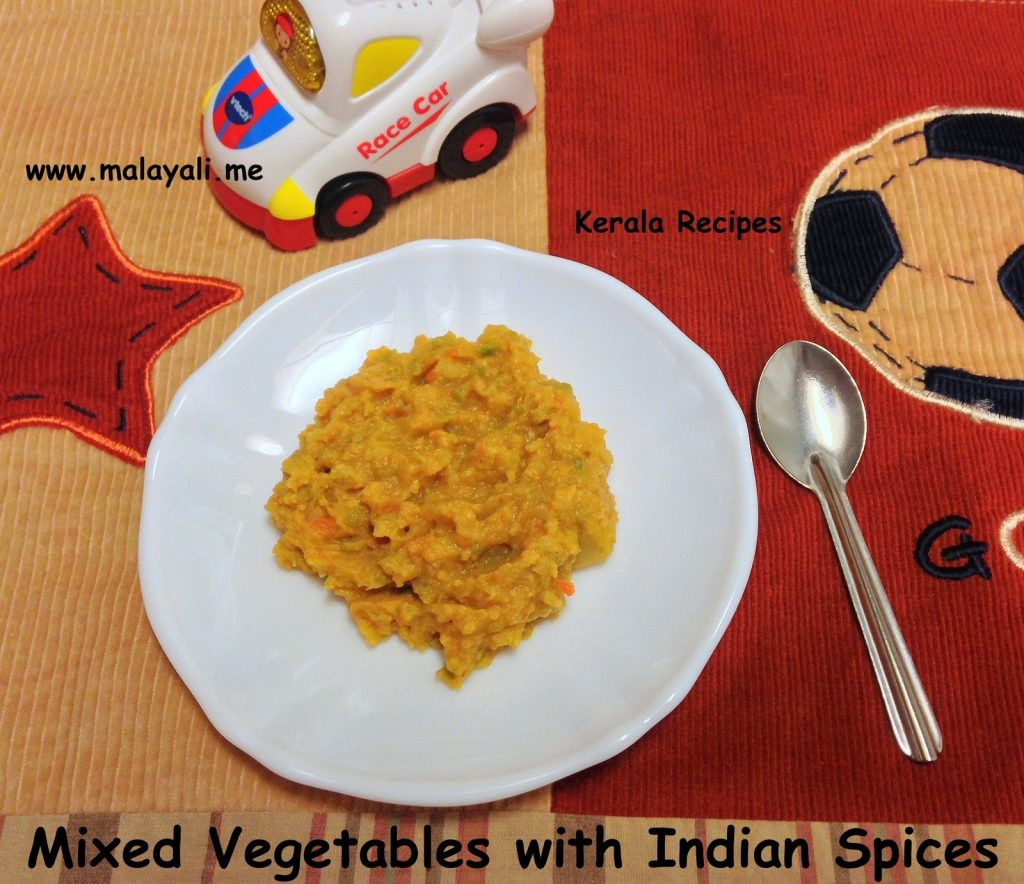 Baby food mixed vegetables with indian spices kerala recipes mixed vegetables with indian spices forumfinder