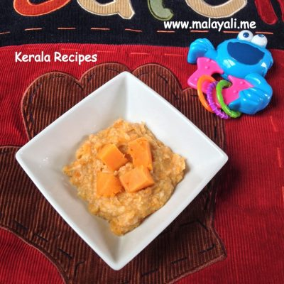 Baby Food: Oats with Mashed Potatoes