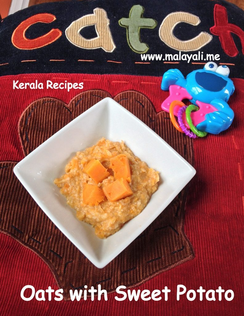 Homemade Oatmeal with Sweet Potatoes