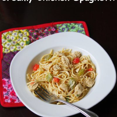 Spicy Chicken Pasta in Cream Cheese Sauce