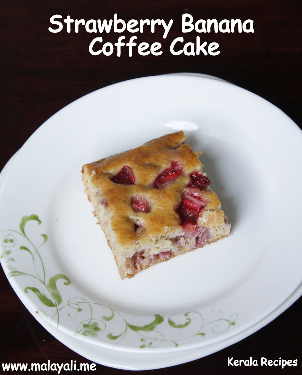 Strawberry Banana Coffee Cake