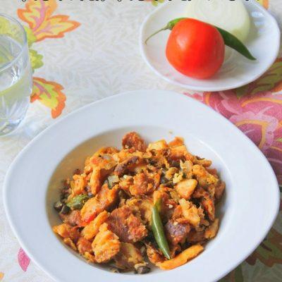 Mushroom and Egg Kothu/Kottu Roti