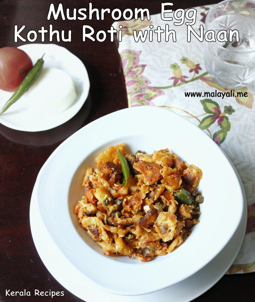 Mushroom Egg Kothu Roti