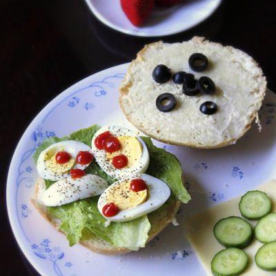 Grilled Egg and Mozzarella Breakfast Sandwich