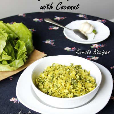 Kerala style Lettuce and Coconut Stir Fry