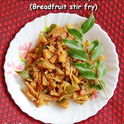 Kadachakka Mezhukkupuratti (Breadfruit Stir fry)